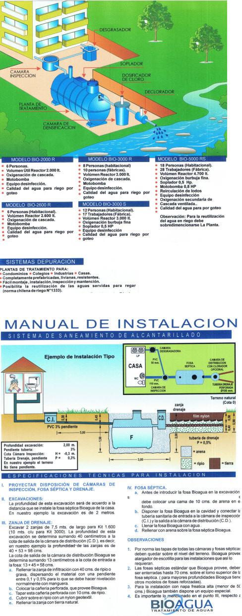 Sistemas para Saneamiento de Alcantarillados